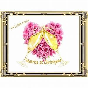 Etiquette Champagne Mariage : etiquette bouteille champagne coeur de roses ~ Teatrodelosmanantiales.com Idées de Décoration