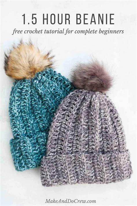 hour  crochet hat pattern  beginners step