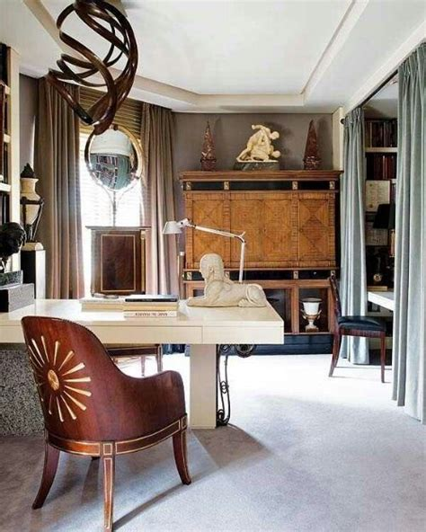 Masculine Office Decorating Ideas by 33 Stylish And Dramatic Masculine Home Office Design Ideas