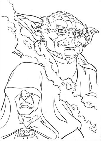 yoda  palpatine coloring page  printable coloring pages
