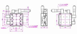 Xy Axis Cross Guide Displacement Lift Stage Manual Fine