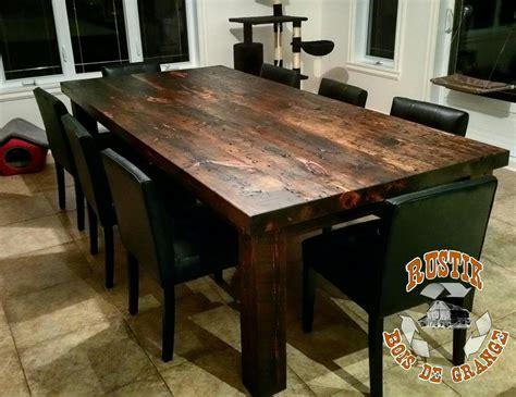 table cuisine rustik bois de grange mobiliers en bois massif haut de