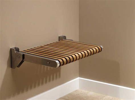 teak wood wall mounted folding shower seat  plan