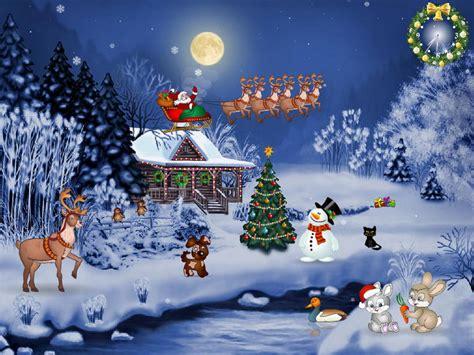 wallpaper christmas animations free evening free screensaver fullscreensavers