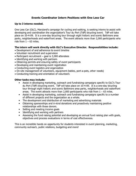 Special Events Coordinator Resume Cover Letter by Awesome Special Event Planning Event Planning Checklist Template Microsoft Special Event