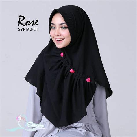 fashion hijab lebaran  casual hijab instan rose pet