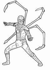 Avengers Coloring Pages Infinity War Iron Spider Marvel Printable Game Drawing End Spiderman Captain America Draw Learn Superhero Lego Drawings sketch template