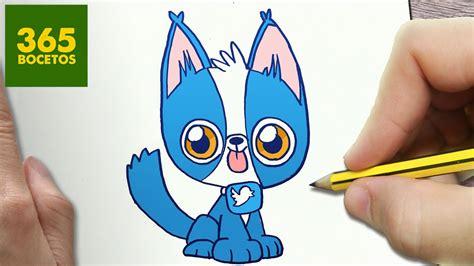 como dibujar perro kawaii paso a paso dibujos