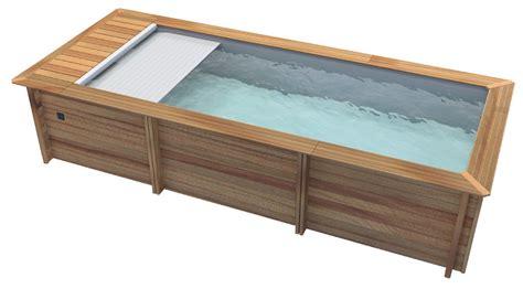 piscine bois avec escalier integre piscine bois en kit urbaine pour petits espaces piscine center net