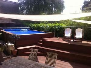 Terrasse Piscine Hors Sol : piscine hors sol int gr e dans une terrasse bois id es ~ Dailycaller-alerts.com Idées de Décoration