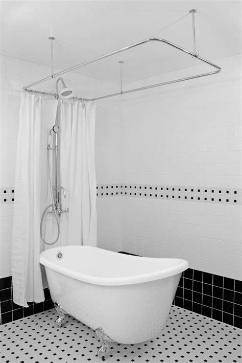 Shower For Clawfoot Tub by Hlsw54shpk 54 Quot Hotel Collection Swedish Slipper Clawfoot