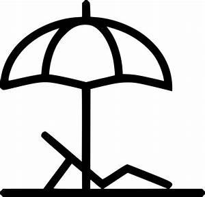 Beach Umbrella Trip Island Chair Svg Png Icon Free ...