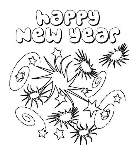 happy  year coloring pages  coloring pages  kids