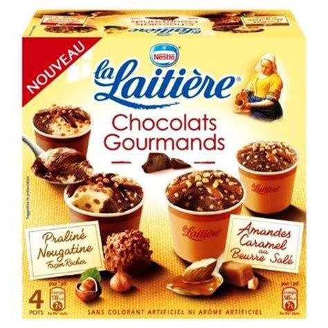 petit pot la laitiere mini pots de creme glacee chocolat gourmand la laitiere 4x100ml tous les produits glaces