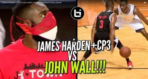 James Harden and Chris Paul vs John Wall in Charity Game