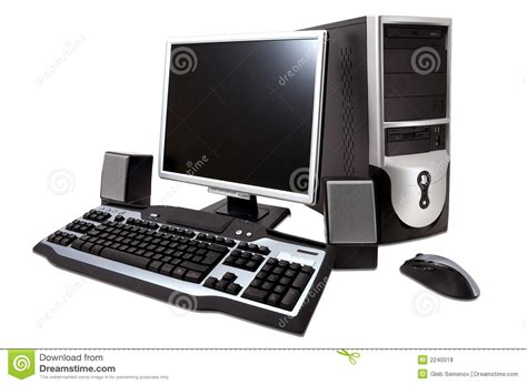 ordinateur de bureau mini tour ordinateur de bureau photo stock image du path tour