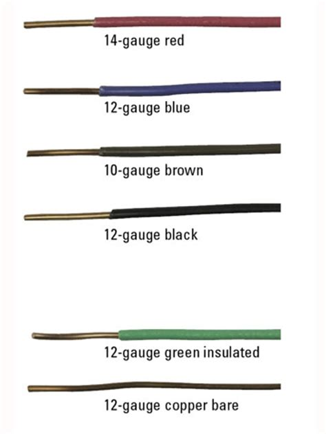 electrical cable and wire types colors and sizes