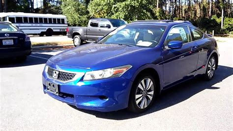 2008 Honda Accord Coupe Reviews by 2008 Honda Accord Ex L Coupe Startup And Review