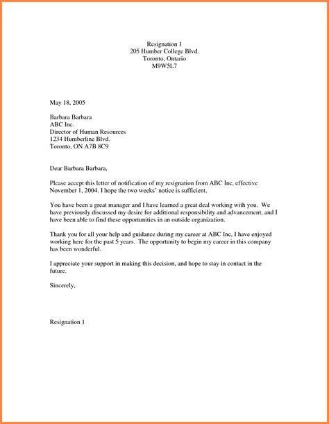Two Weeks Notice Template 9 Simple Two Week Notice Template Notice Letter