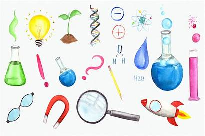 Science Clip Watercolor Thehungryjpeg Cart Graphics