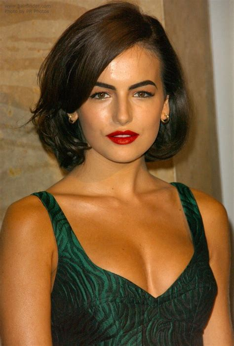 Camilla Belle   Medium length retro hairstyle with an