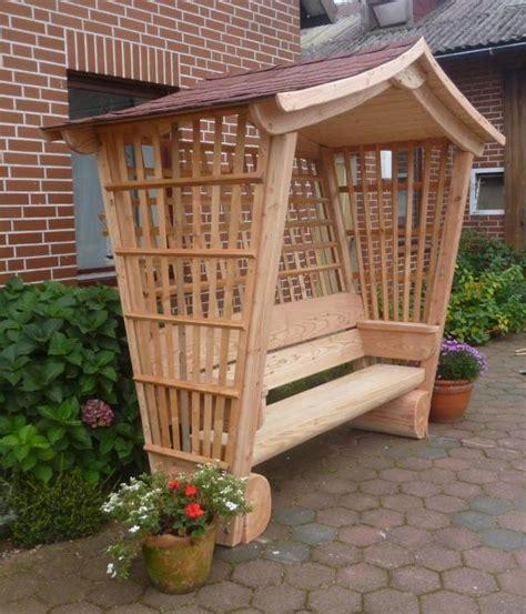 Gartenlaube Rosenbankpavillonsitzbankgartenmöbel