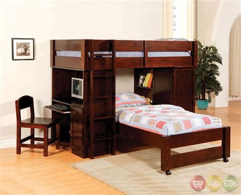 bed with built in desk harford i dark walnut junior loft bed set with built in