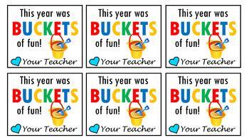 buckets  fun   year gift tag  jennifer powell tpt