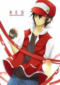 pokemon trainer red manga character
