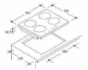 Dimension Plaque De Cuisson : table de cuisson induction 4 feux ~ Dailycaller-alerts.com Idées de Décoration