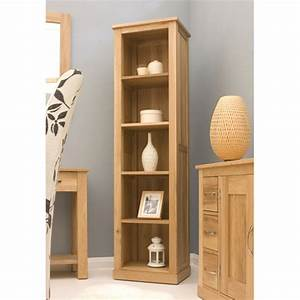 Artisan Wooden Narrow Bookcase In Oak 8854 Furniture In