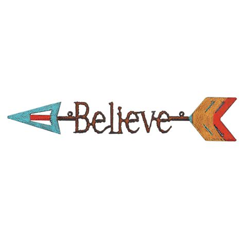 colorful wall decor believe colorful arrow metal wall