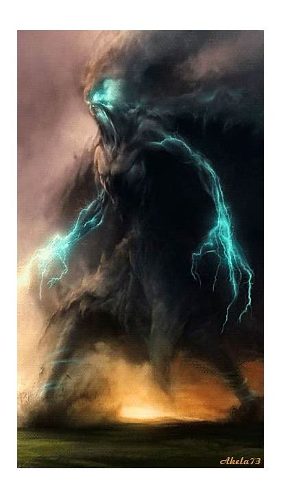 Creatures Fantasy Dark Storm Monster Mythical Creature