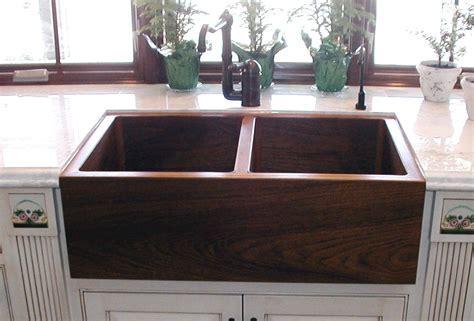 Teak Double Kitchen Sink   Sinks Gallery