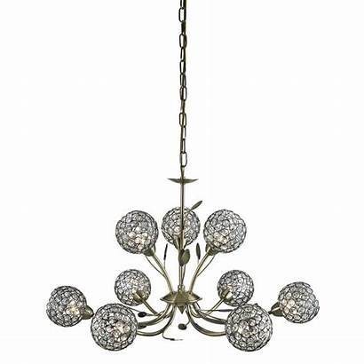 Bellis Ceiling Glass Antique Brass Clear Ii