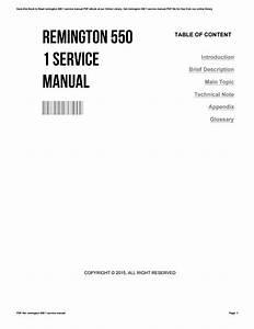 Remington 550 1 Service Manual By Franceshammond1250