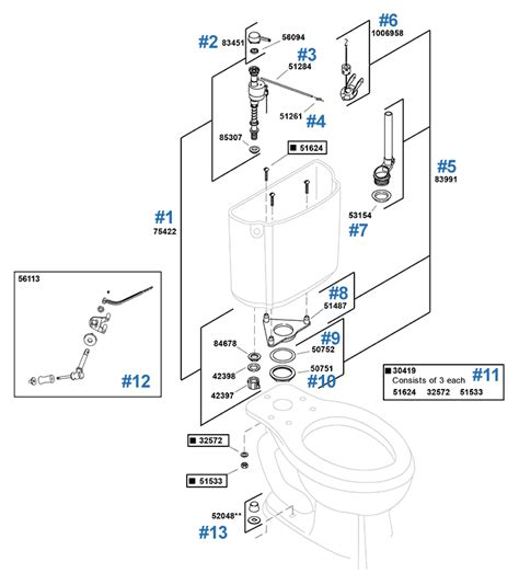 Epernay Toilet Repair Parts by Kohler