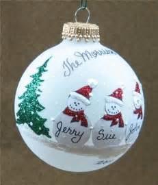 personalized snowman family glass ornament advisor