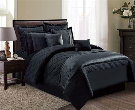 black bed sets 12 fiona black bed in a bag w 500tc cotton sheet set 10843   cf03179 black