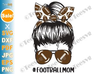 Looking for a good deal on bun headband? Football Mom SVG PNG Sublimation Design Mama Messy Mom Bun ...