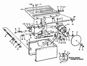 Craftsman 10 Table Saw Fence Assembly Parts Model