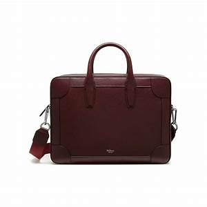 belgrave single document holder oxblood natural grain With document carrier