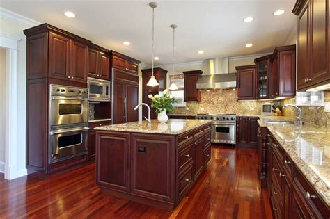 Kitchen Floor Ideas With Cherry Cabinets by 143 Luxury Kitchen Design Ideas Designing Idea