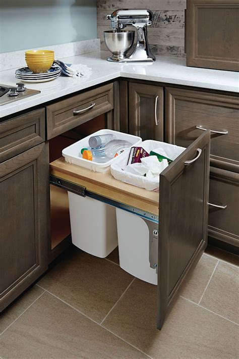 cabinet wastebasket kitchen 21 inch base wastebasket cabinet homecrest 6519