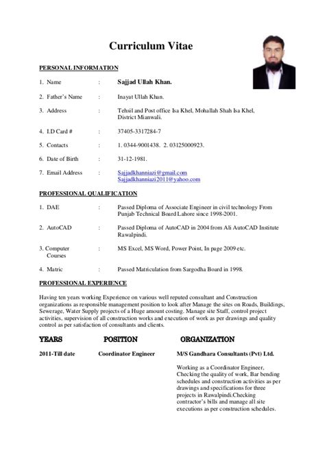 diploma resume model pdf cv site engineer civil