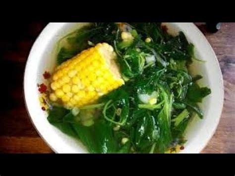 Resep ini merupakan warisan dari orangtua kita. resep simple sayur bening bayam kencur - YouTube