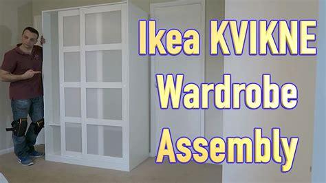 Ikea Schrank Kvikne by Ikea Kvikne Wardrobe With 2 Sliding Doors Assembly