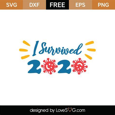 Coronavirus | free svg image in public domain. Free I Survived 2020 SVG Cut File - Lovesvg.com