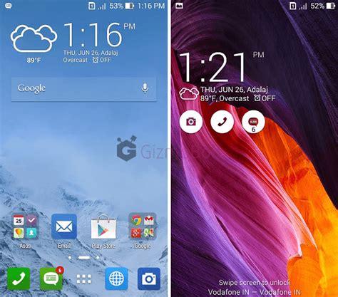 Asus Zenfone 5 Home And Lock Screen