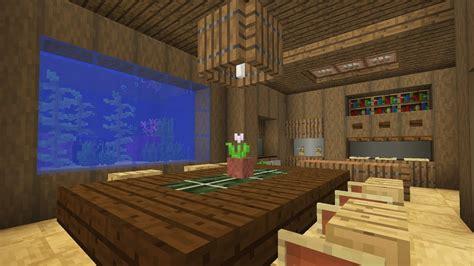 minecraft kitchen  dining room interior  fish tank